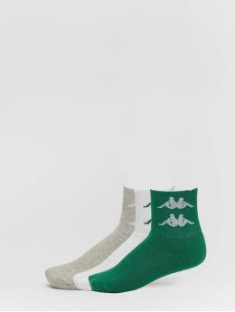 Kappa Sokker Evan Quarter 3er Pack grøn