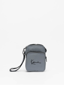 Karl Kani Bag Kk Signature Tape silver colored