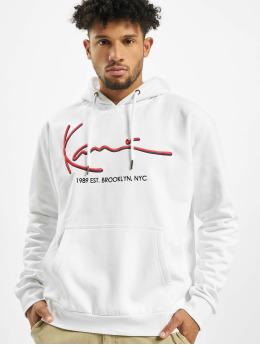 Karl Kani Bluzy z kapturem Signature bialy