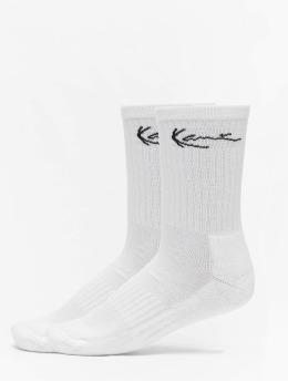 Karl Kani Chaussettes 2 Pack Signature blanc