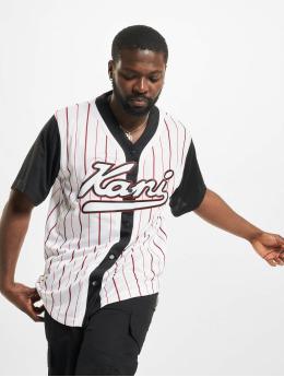 Karl Kani Chemise Varsity Block Pinstripe Baseball noir