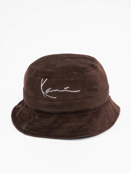 Karl Kani hoed Signature Velvet bruin