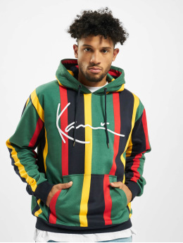 Karl Kani Hoodies Signature Stripe grøn