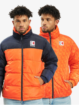 Karl Kani Puffer Jacket Retro Reversible orange