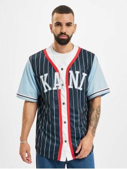 Karl Kani Shirt College Block Pinstripe blue