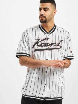 Karl Kani Shirt Kk Varsity Pinstripe Baseball white