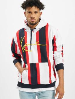 Karl Kani Sweat capuche Signature Stripe blanc