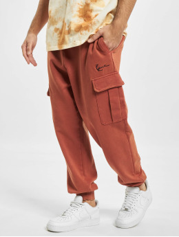 Karl Kani Sweat Pant Small Signature Washed Cargo orange