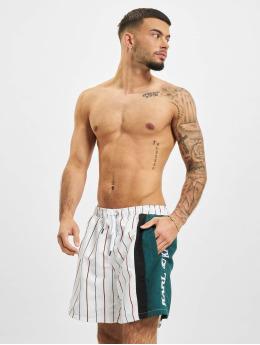 Karl Kani Swim shorts Retro Block Pinestripe white