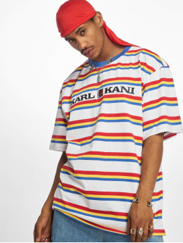 Karl Kani T-shirt Retro Stripe  bianco