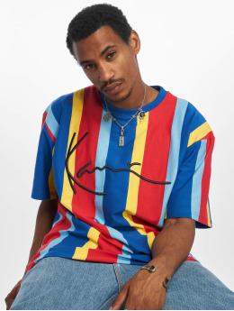 Karl Kani T-shirt Signature Pinstripe blå