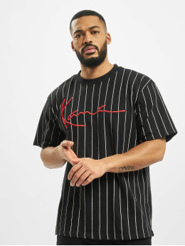 Karl Kani T-Shirt Signature Pinstripe black