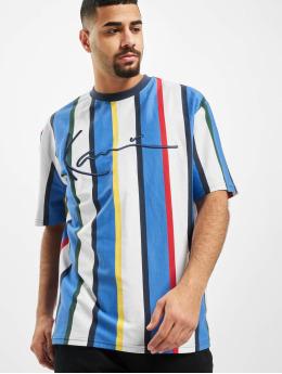 Karl Kani T-Shirt Kk Stripe blanc