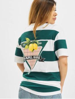 Karl Kani T-Shirt Small Signature Os Stripe blanc