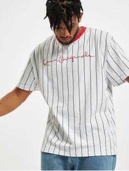 Karl Kani T-Shirt Originals Pinstripe blanc