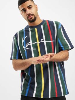 Karl Kani T-Shirt Kk Stripe bleu