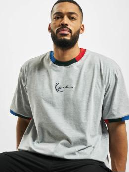 Karl Kani t-shirt Signature Ringer grijs