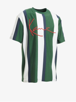 Karl Kani t-shirt Signature Stripe groen
