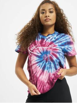 Karl Kani T-Shirt Kk Signature Tie Dye magenta