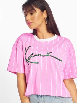 Karl Kani T-Shirt Signature Stripe pink