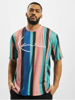 Karl Kani t-shirt Signature Stripe turquois