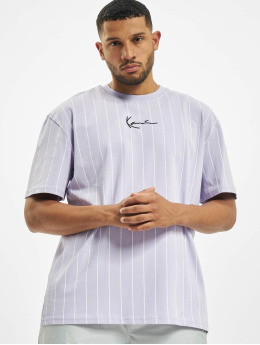 Karl Kani T-Shirt Small Signature Pinstripe violet