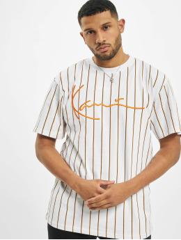 Karl Kani T-Shirt Kk Signature Pinstripe weiß