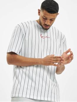 Karl Kani T-Shirt Small Signature Pinstripe white