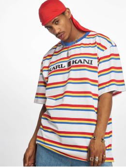 Karl Kani t-shirt Retro Stripe  wit