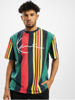 Karl Kani T-shirts Signature Stripe grøn
