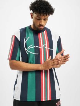 Karl Kani T-shirts Signature Stripe hvid
