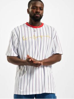 Karl Kani T-shirts Originals Pinstripe hvid