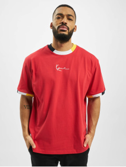Karl Kani T-Shirty Signature Ringer  czerwony