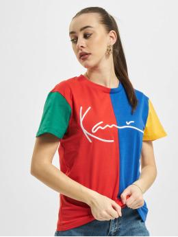 Karl Kani T-Shirty Signature Block  czerwony