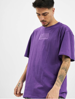 Karl Kani T-Shirty Kk Small Signature Box fioletowy