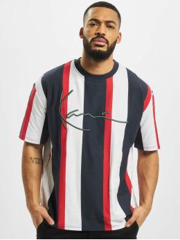 Karl Kani T-Shirty Signature Stripe niebieski
