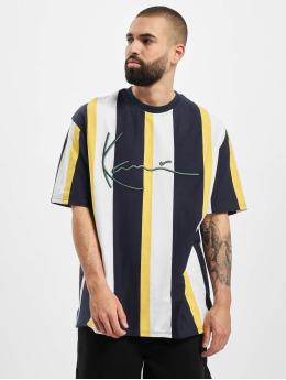 Karl Kani T-Shirty Kk Signature Stripe niebieski