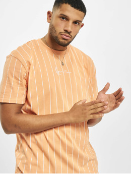 Karl Kani T-Shirty Small Signature Pinstripe pomaranczowy