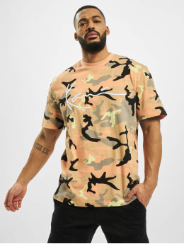 Karl Kani T-Shirty Signature Camo rózowy