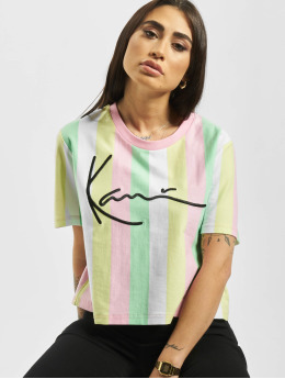 Karl Kani T-Shirty Signature Stripe zielony