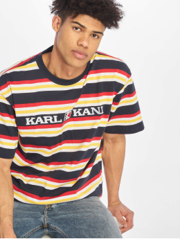 Karl Kani T-skjorter Retro Stripe blå