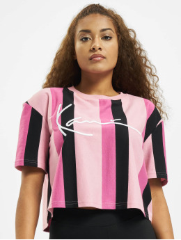 Karl Kani T-skjorter Kk Signature Stripe  rosa