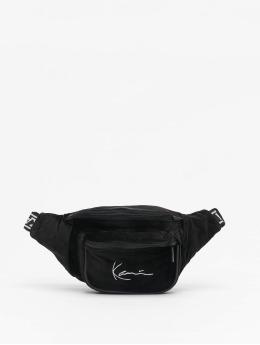Karl Kani tas Signature Velvet zwart