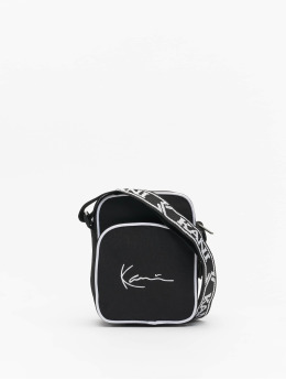 Karl Kani tas Signature Tape Messenger zwart