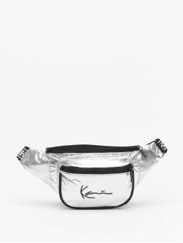 Karl Kani Tasche Signature Tape silberfarben