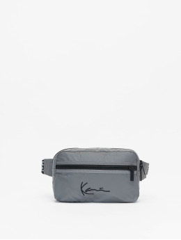 Karl Kani Tasche Kk Signature Tape silberfarben