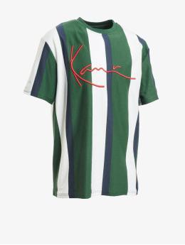 Karl Kani Tričká Signature Stripe zelená