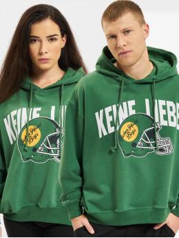 Keine Liebe Bluzy z kapturem Green Ballheads zielony