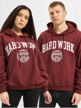 Keine Liebe Hoodie Hard Work röd