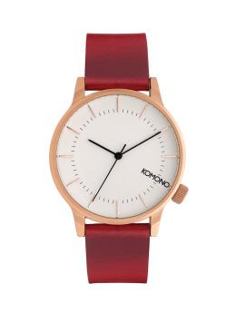 Komono Uhr Winston rot